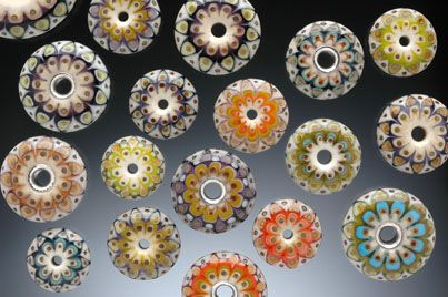 http://www.kristinalogan.com/beads/beads-add.htm#  Lampworked Glass Beads by Kristina Logan