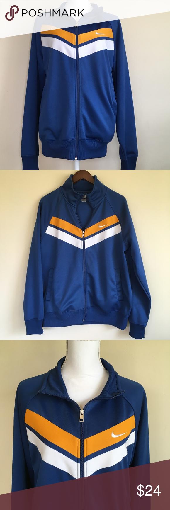 Nike Athletic Dept. Blue Track Jacket Size Large Nice Blue
