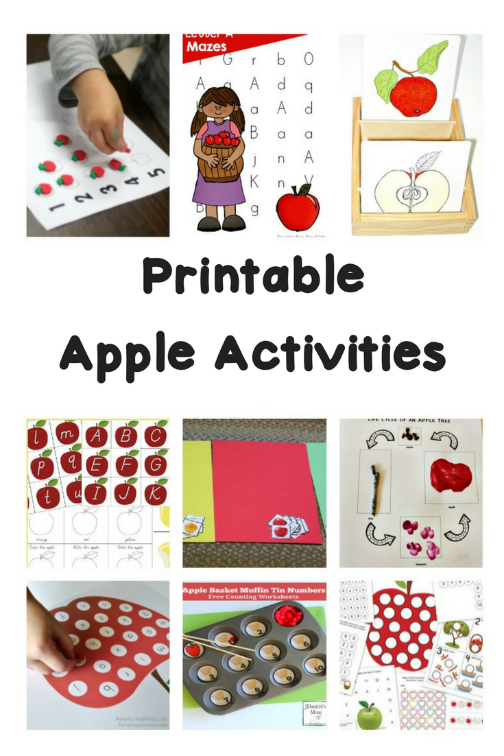 Printable Apple Worksheets And Activities Make Learning Fun Kindergarten Reading Activities Holiday Worksheets Fun Learning [ 1102 x 735 Pixel ]
