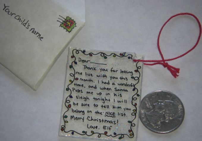 Make A Personalized Goodbye NoteOrnament From Your Elf On The