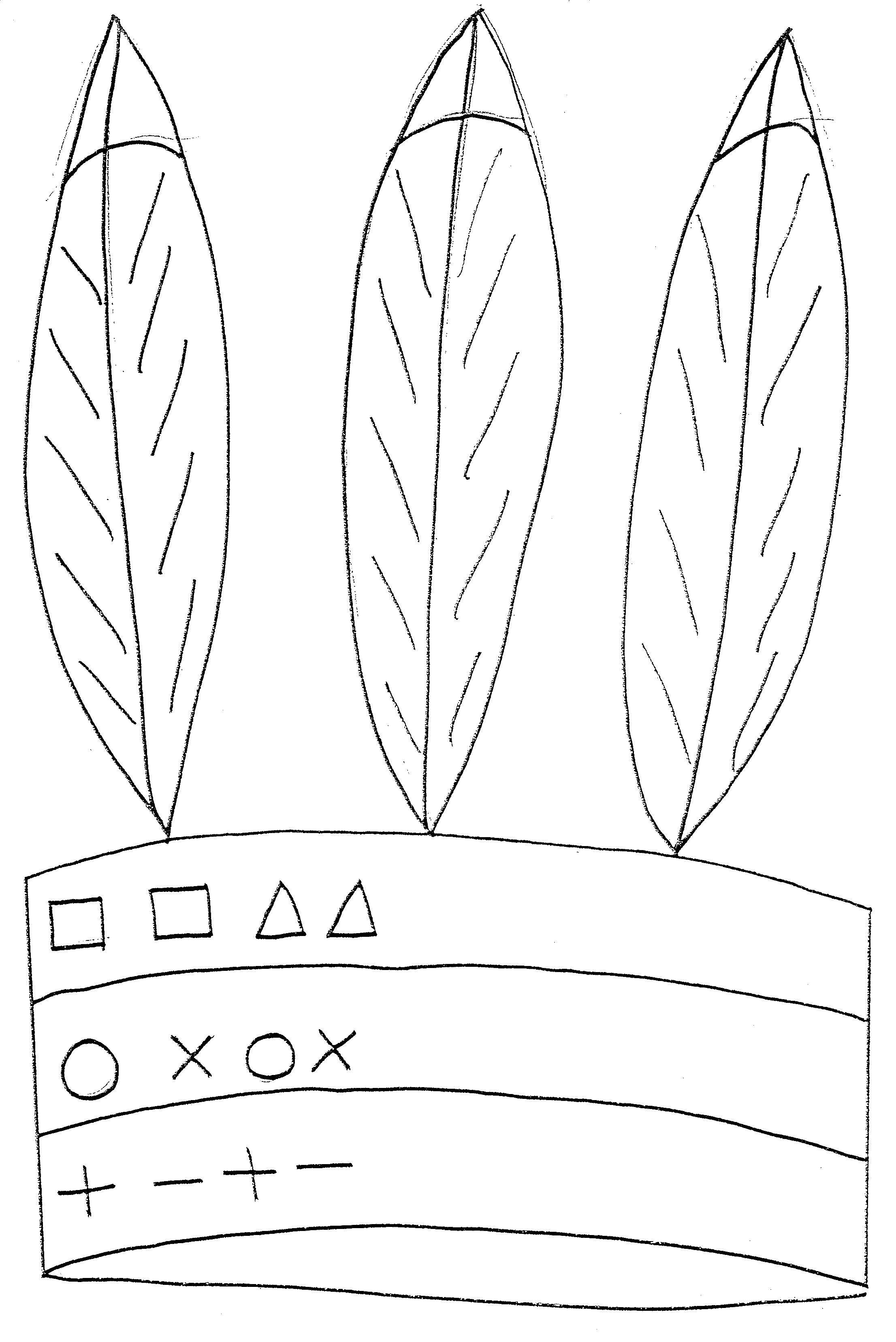 Kleurplaat Carnaval Kleuter Graphisme Algorithme Rectangle Triangle Rond Croix