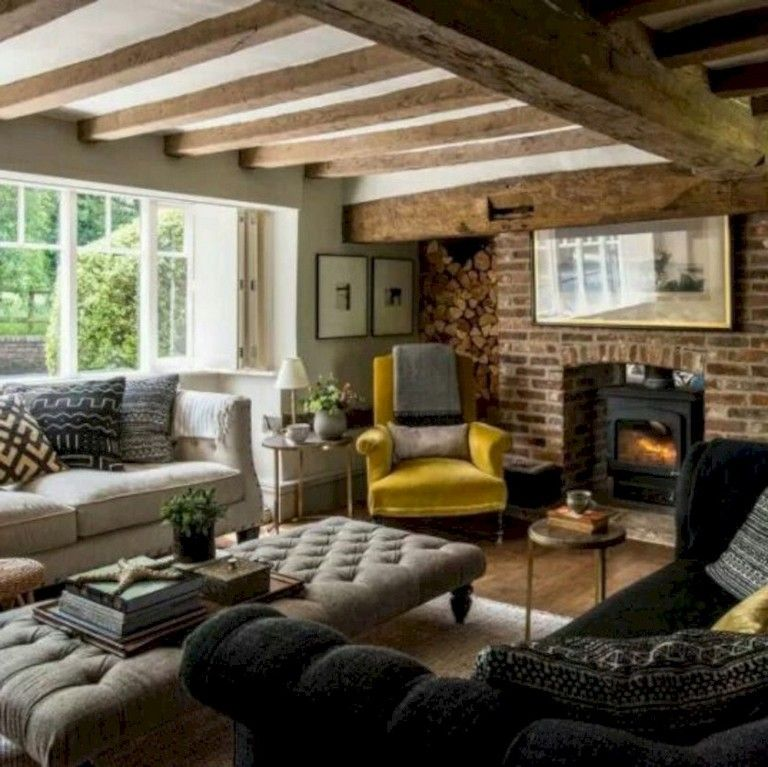 Eclectic Cottage Living Room: 40 Interesting Shabby Chic Living Room Designs Ideas