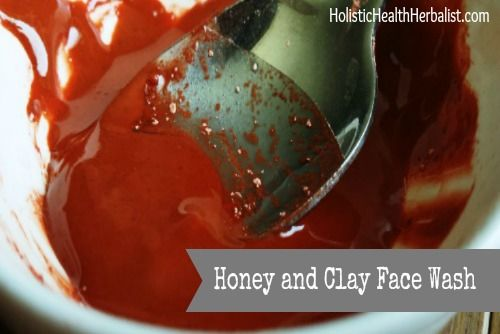 Clay and Honey Face Wash for Sensitive Skin - Holistic Health Herbalist #homemadeskincare