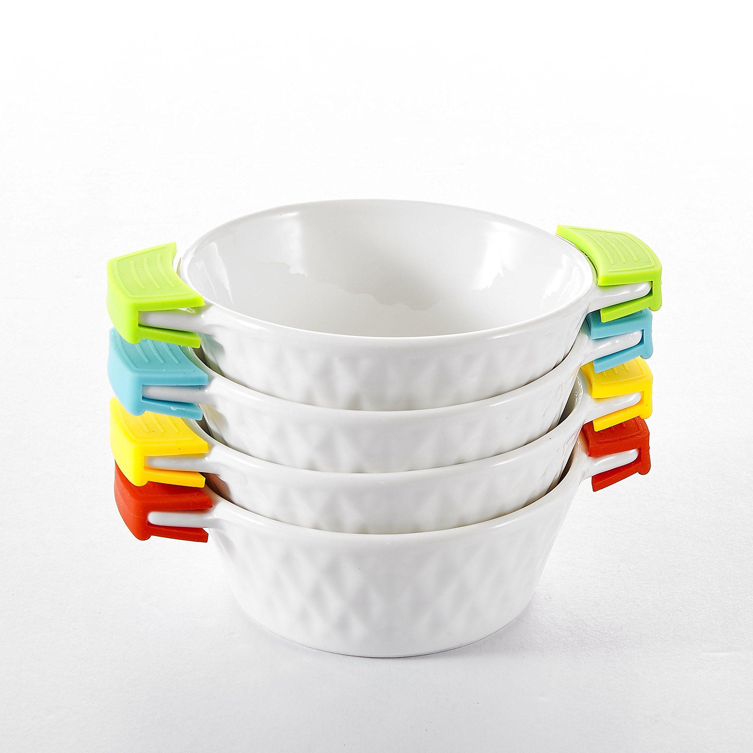 Malacasa 4 Piece Series Bakeware Pans Porcelain China Ceramic
