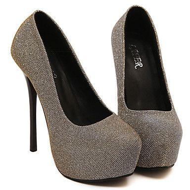 2aa2d329d2d571 Chaussures Femme Similicuir Talon aiguille Talons/Bout Arrondi Escarpins…  Plus