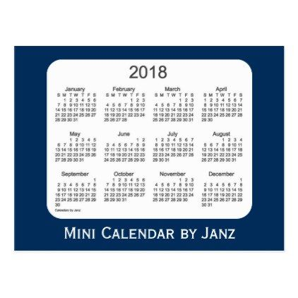 2018 Police Box Blue Mini Calendar By Janz Postcard Black Gifts