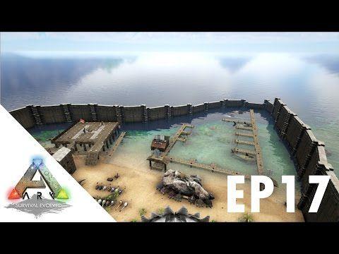 ARK Survival Evolved S1Ep17 Massive Water Docks Build!!! - YouTube - new blueprint ark survival