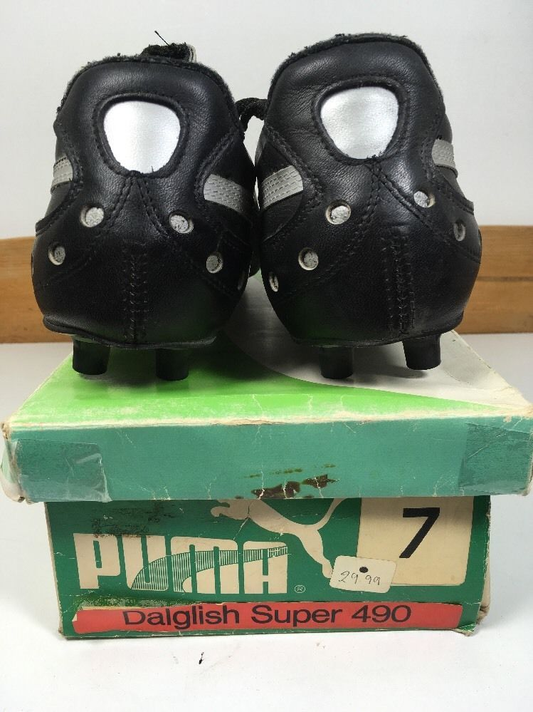 6b754d49d Vintage 1980s Puma Daglish Super football Boots Uk 7 US 8 Ultra Rare OG King  | eBay