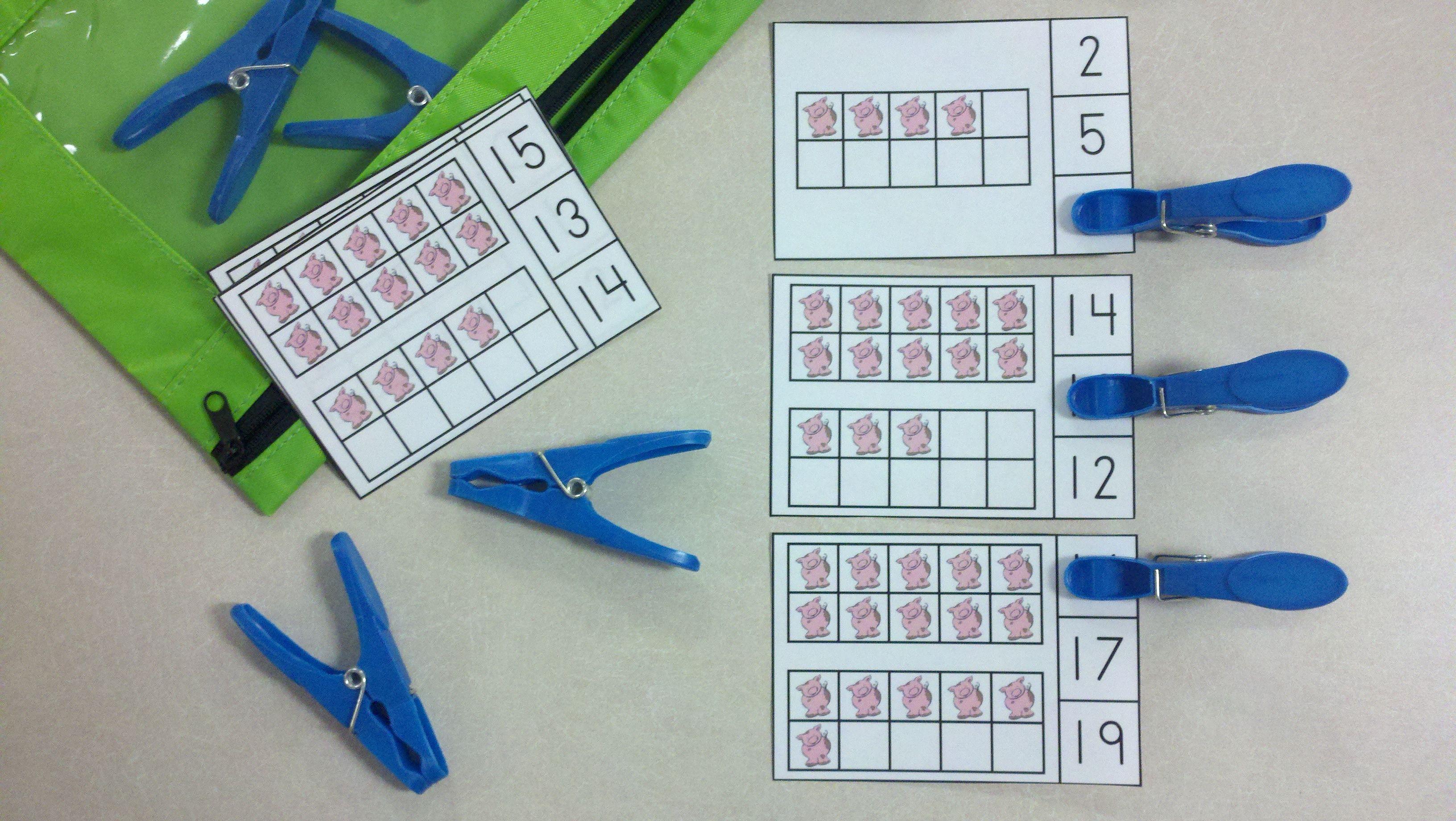 Farm Friends Ten Frames Math Centers Quantities Of 0 To