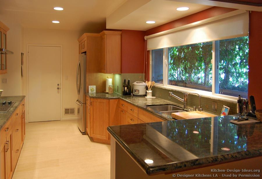appealing light green shaker kitchen | maple shaker cabinets with green counter | Light Shaker ...