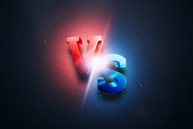 Fondo Creativo Logotipo Versus Rojo Y Azul Letras Para Deporte Y Lucha Libre Esport Logo Ve Creative Background Photo Logo Design Logo Design Art
