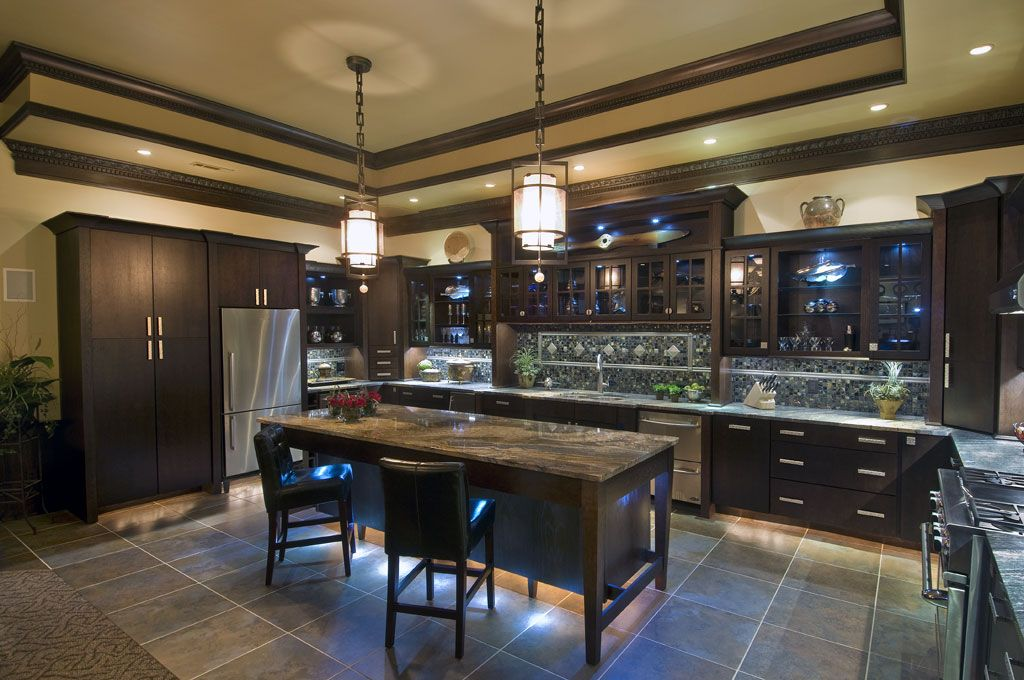 Avenue oak mahogany kitchen design and cabinets by wellborn forest wellborn forest Kitchen design mahogany cabinets