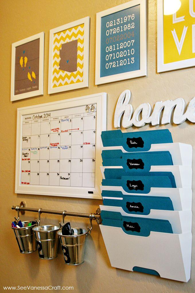 Organization family command center home command center - Home decor subscription box ...