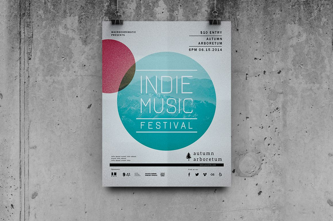 Festival / Concert - Flyer Template by Macrochromatic on @creativemarket