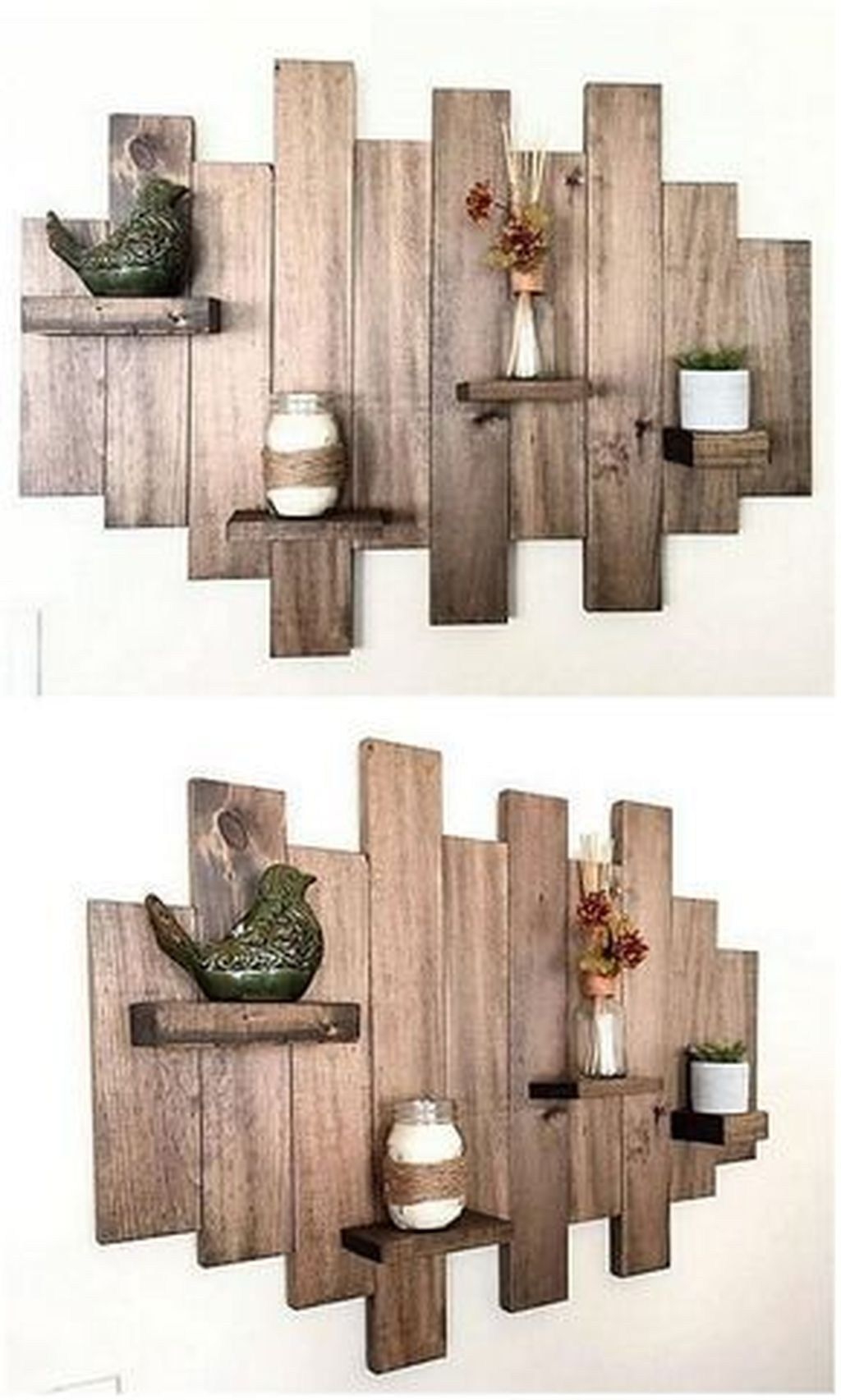 Incredible Used Wood Project Ideas 24   Creative shelving ...