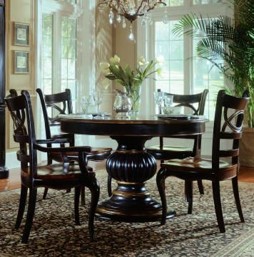 Preston Ridge Round Oval Pedestal Dining Table