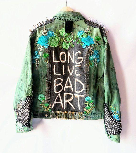 Bad Art Niespokojne Rece Seria Nowy Orlean 2018 Bad Art Jest Najlepszy Ufam Ze Pochodzi Z Uczciwego Miejsca Long Li Battle Jacket Fashion Painted Clothes