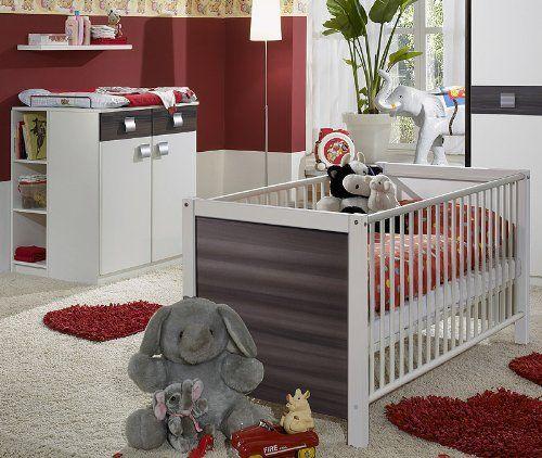 Amazing Babyzimmer EMMA tlg in alpinwei u Nussbaum Graphit