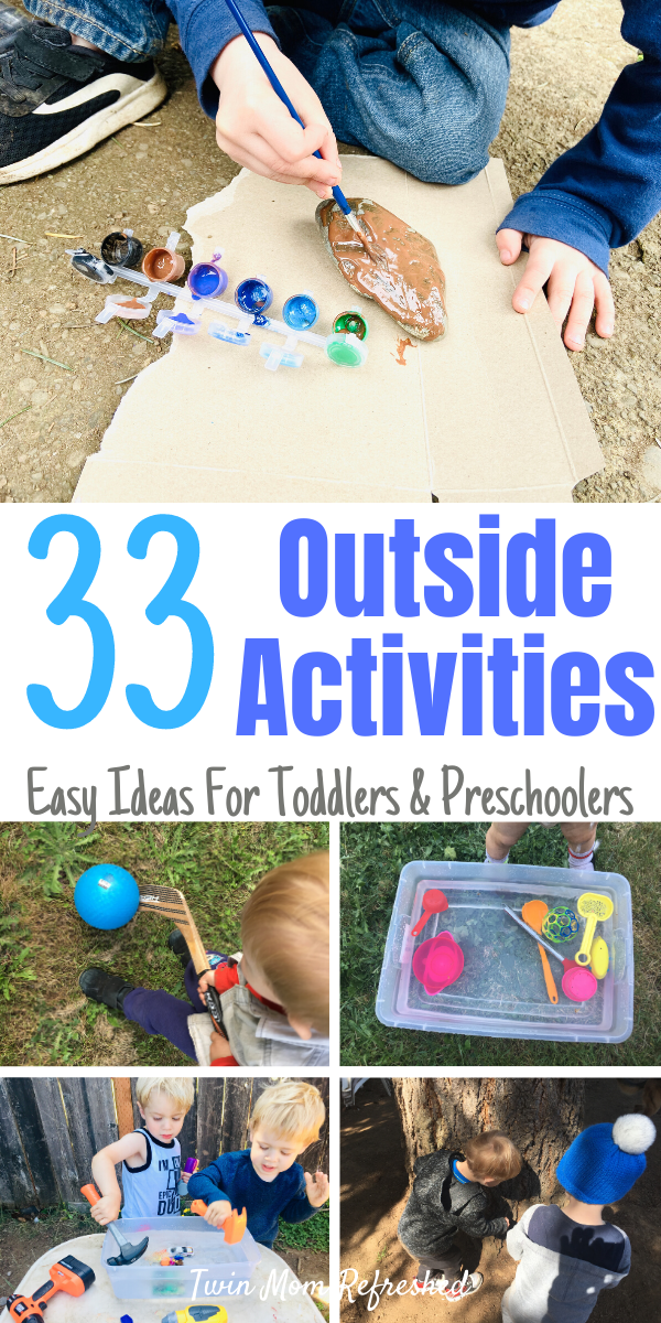 Toddler Outdoor Activities - Easy and Low Prep
