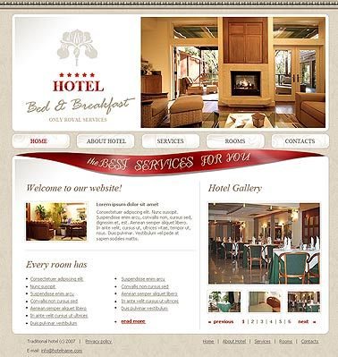 Bed And Breakfast Template Bed And Breakfast Web Layout Design Website Template