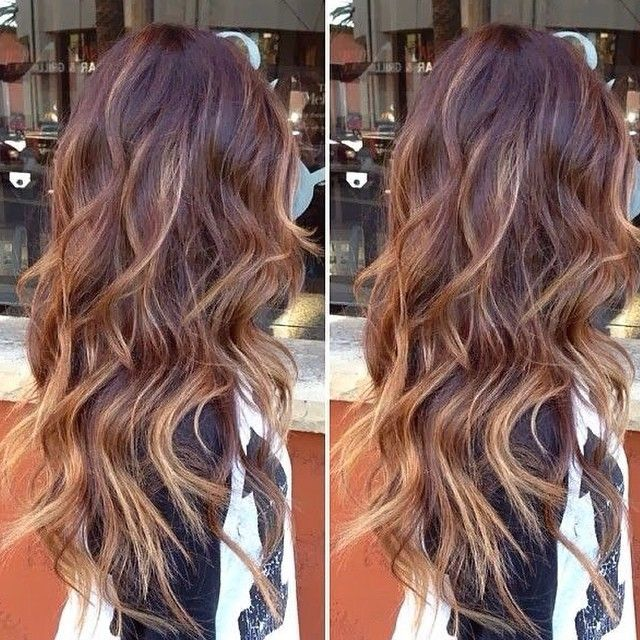 Full Balayage Highlights Over An Ombre