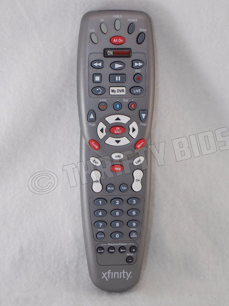 xfinity Comcast RC1475507/03B Universal 3 Device TV Cable Box Remote