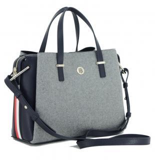 Core Satchel Grey Melton Filztasche Tommy Hilfiger Blau Grau Bags More Filztasche Henkeltasche Taschen