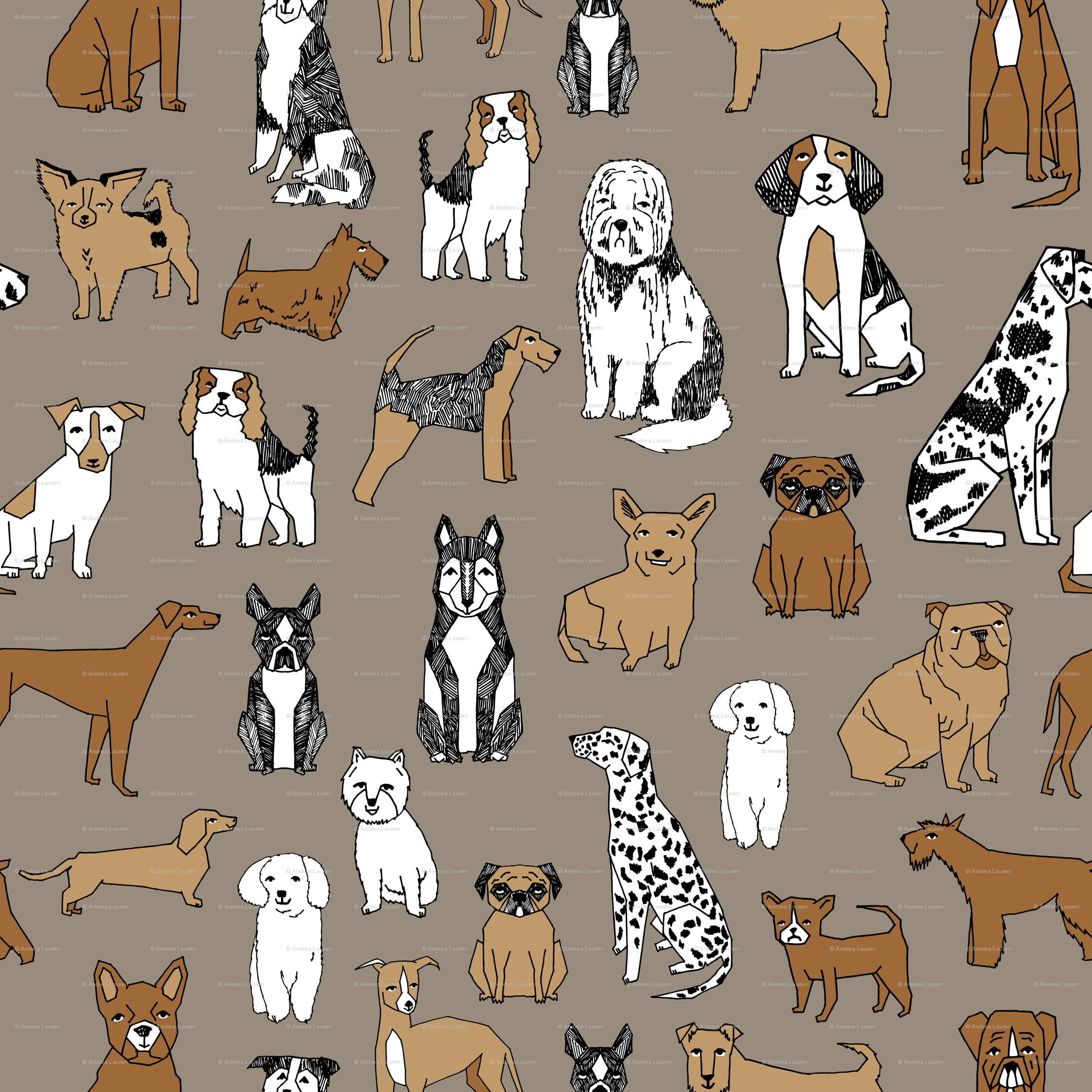 Dog Print Wallpaper dog toile fabric - google search | must love dogs | pinterest