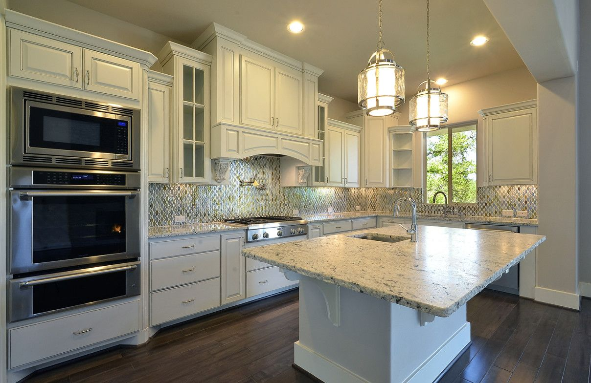 Vent A Hood Kitchen White With Marble Kithen Island And Wood Amazing