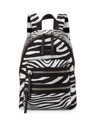 MARC JACOBS Zebra-Print Biker Backpack 54f41f51d7ebe