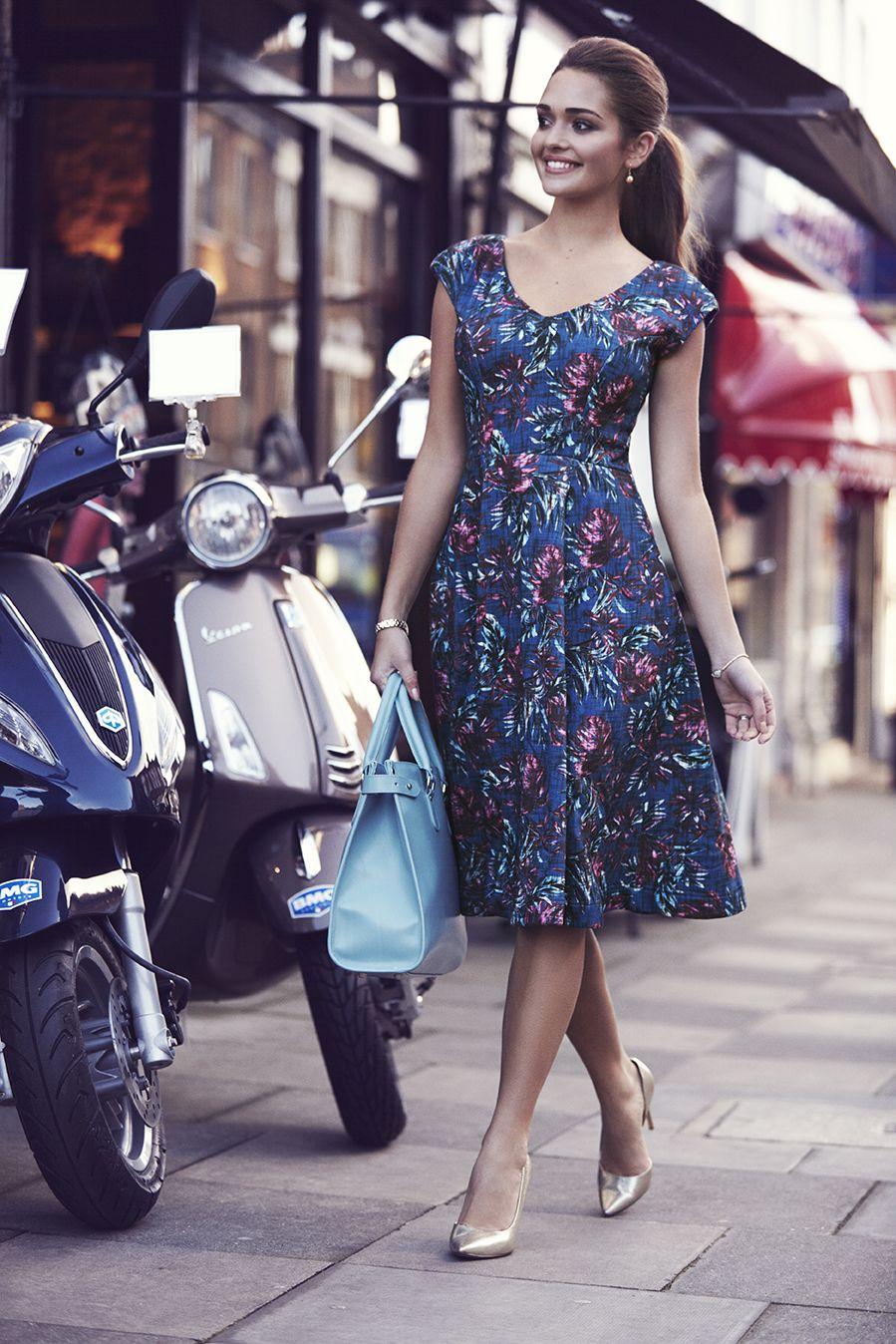 http://www.aliestreet.com/occasionwear/item/ASOLDTN/Olivia-Dress-(Tropical-Nights).html  Our 1950's inspired floral party dress has swish and sway with a lovely flared skirt and cinched in waist.