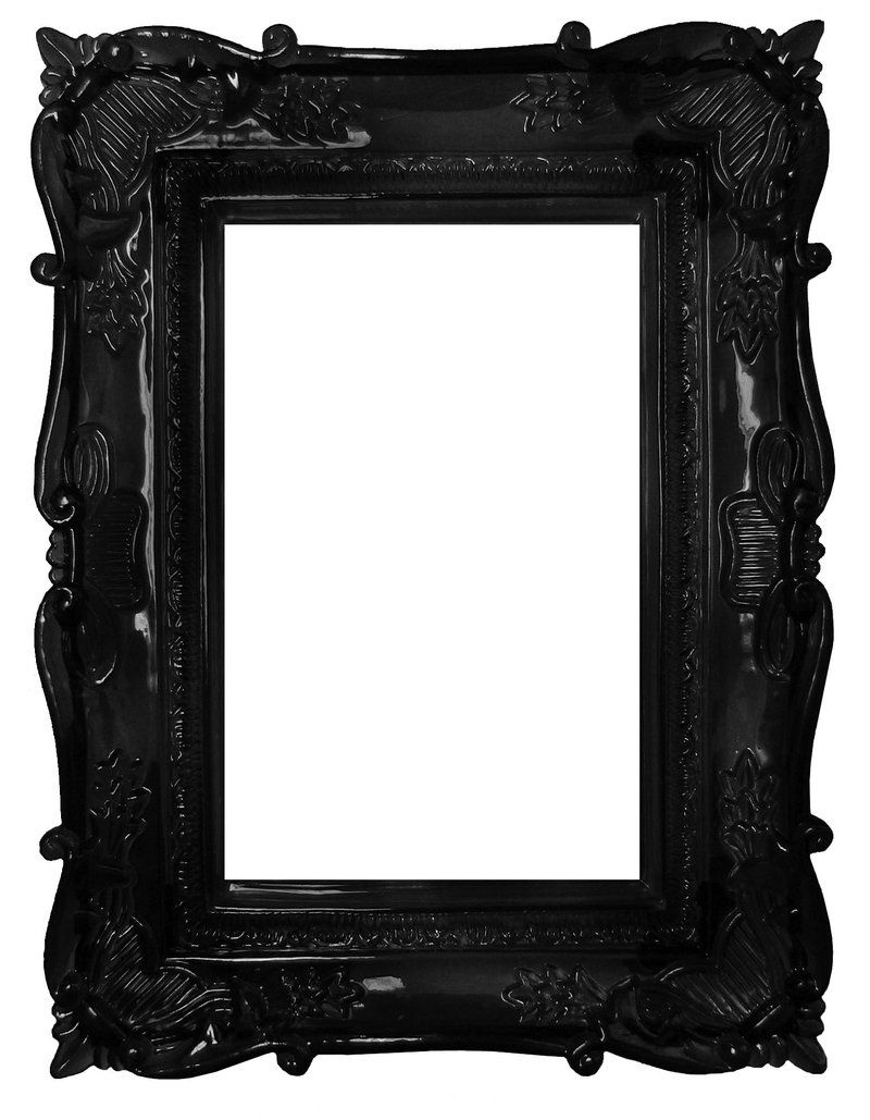 vintage black frame. Frame Around Wall Cut-out Vintage Black I