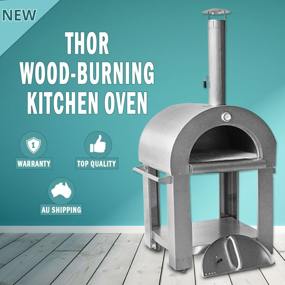 Thor heavy duty wood fired pizza oven portable outdoor cooking