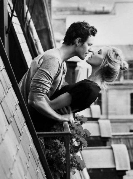 Man And Woman Kissing On Balcony Couples Love Story Cute Couples