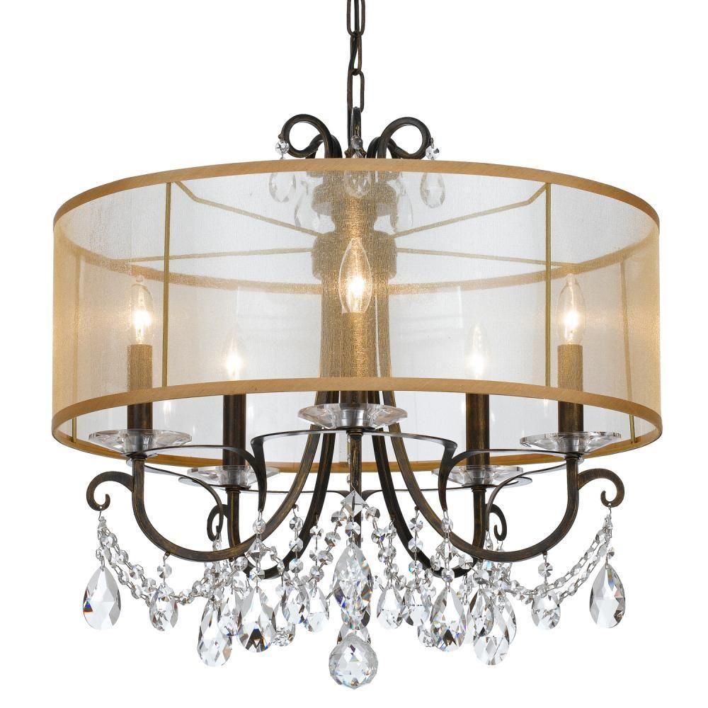 Crystorama 6625 eb cl mwp othello 5 light chandelier english bronze crystorama 6625 eb cl mwp othello 5 light chandelier english bronze arubaitofo Image collections