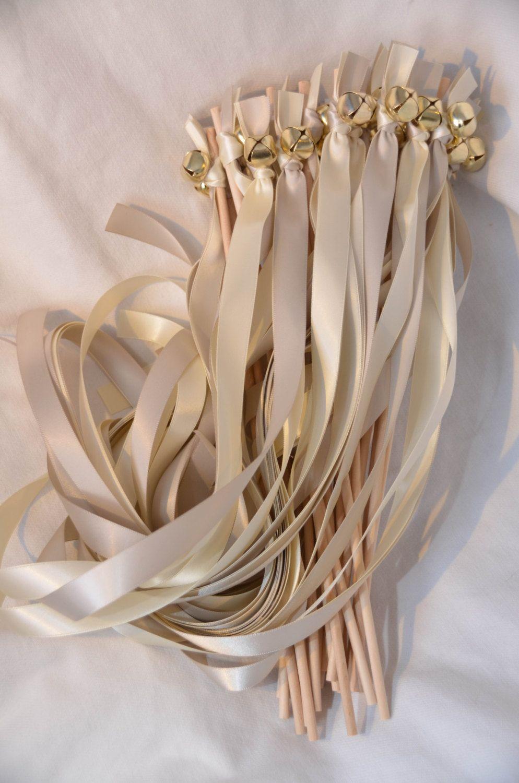 100 Twirling Wedding Wand Ribbon Bell Streamers Send off