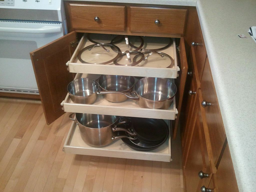 Great Adding An Extra # PullOutShelf For Your Lids Keeps Your # · Sliding ShelvesPull  ...