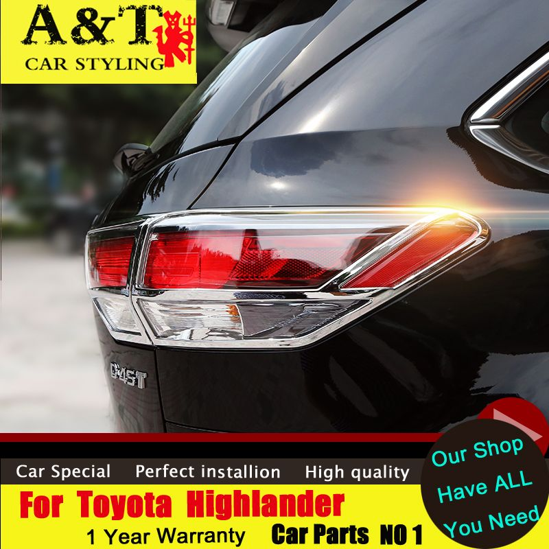 car styling For Toyota Highlander Tail lamp chrome strips