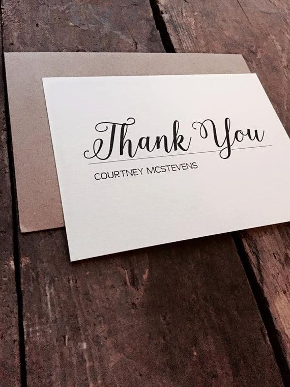 elegant and classic personalized thank you note interview