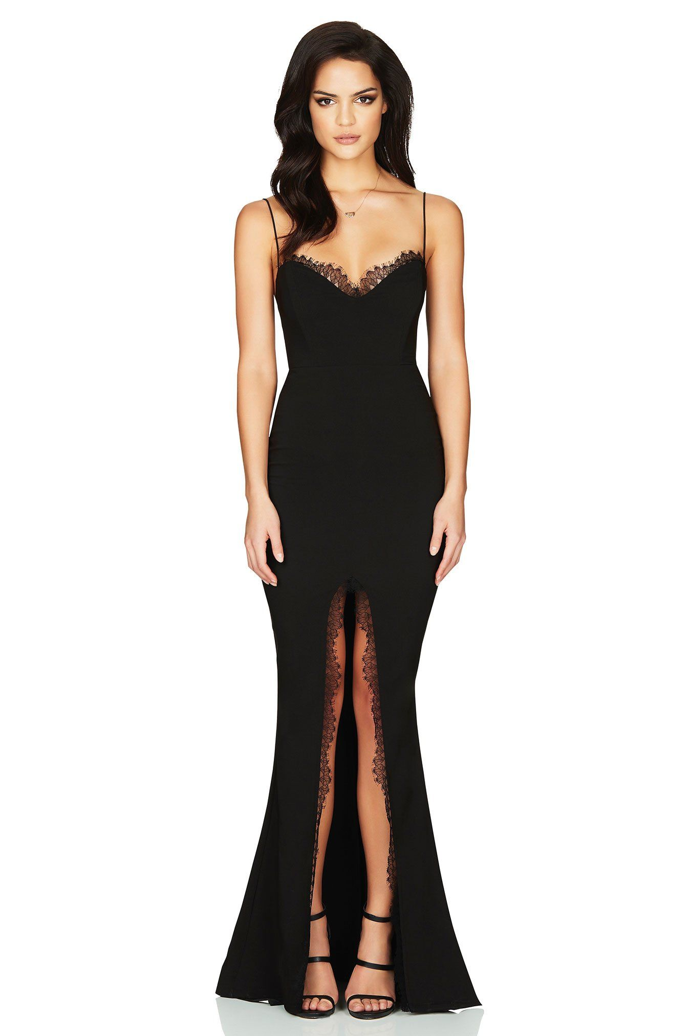 Nookie chloe lace gown black products pinterest gowns lace