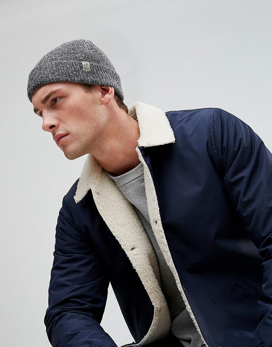 Beanie In Rib Cotton Mix - Grey melange Jack & Jones