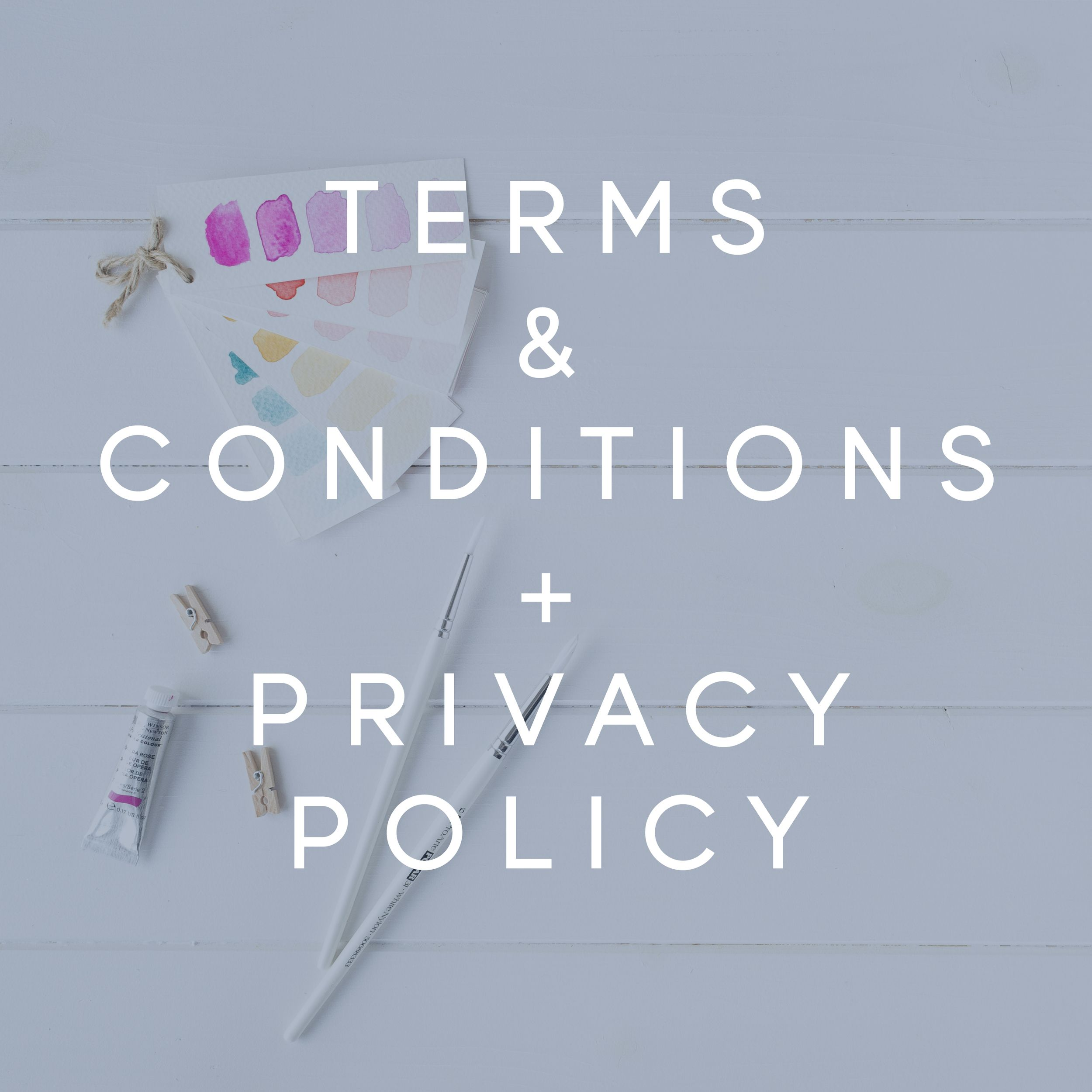 Terms & Conditions + Privacy Policy for Your