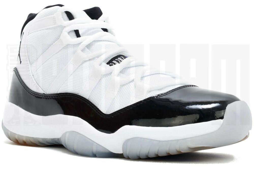 bb1910ea529f11 eBay  Sponsored 2011 Nike AIR JORDAN 11 RETRO CONCORD 13 14 WHITE BLACK  bred spacejam