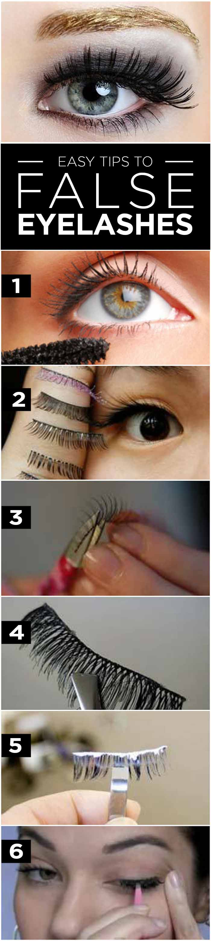 How To Apply False Eyelashes Stepwise Tutorial And Tips