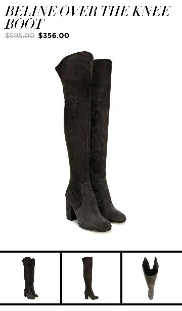 I just purchase this pair of Via Spiga over the knee boots ...