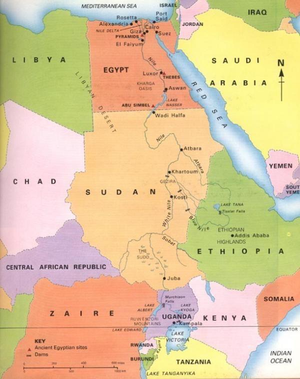 Carte Des Fleuves Du Monde : carte, fleuves, monde, River,, Nile,