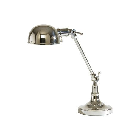 Our pharmacy lamp offers precision lighting and cool, classic style. Height and angle are adjustable so you can direct light as needed. The shade has a built-in heat shield, so it doesn