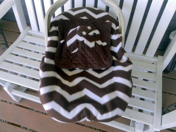 Appliqued Elephant Infant Carrier Cover Car Seat By Lindasnd 4200