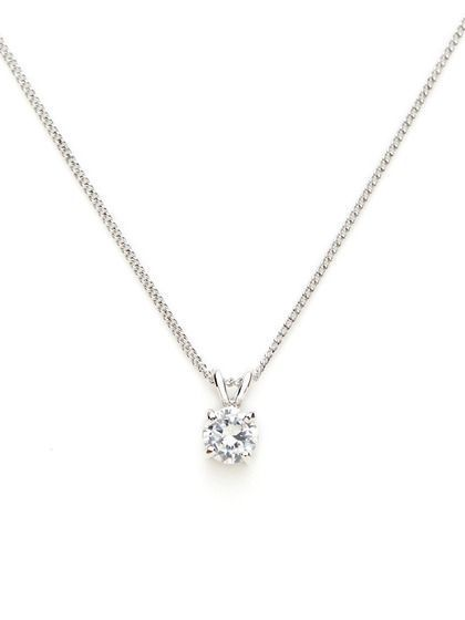 The simple round diamond necklace round cz mini pendant necklace the simple round diamond necklace round cz mini pendant necklace by cz by kenneth jay mozeypictures Image collections