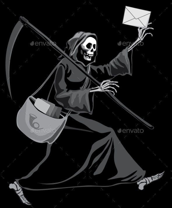 Grim Reaper Postman #AD #Grim, #AD, #Reaper, #Postman